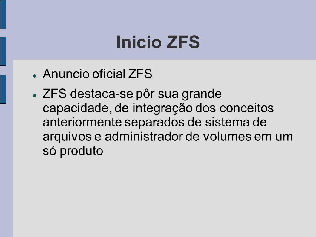 Inicio ZFS Anuncio oficial ZFS
