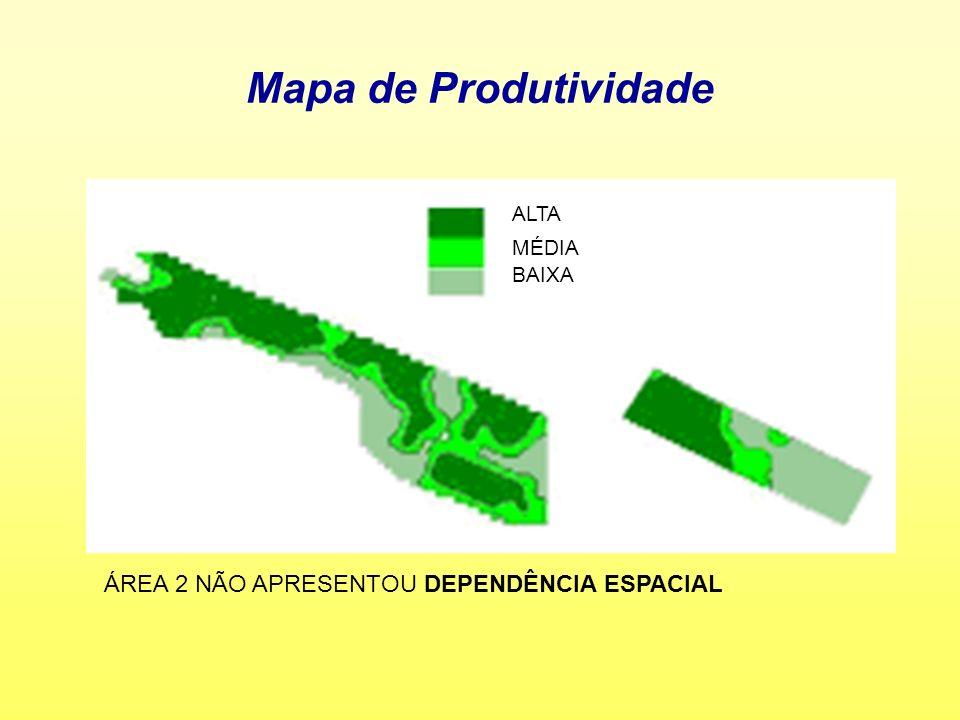 Mapa de Produtividade ÁREA 2 NÃO APRESENTOU DEPENDÊNCIA ESPACIAL ALTA