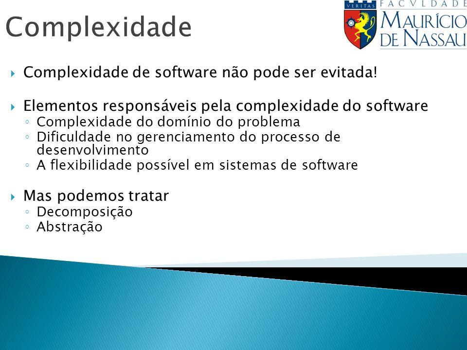 Complexidade Complexidade de software não pode ser evitada!