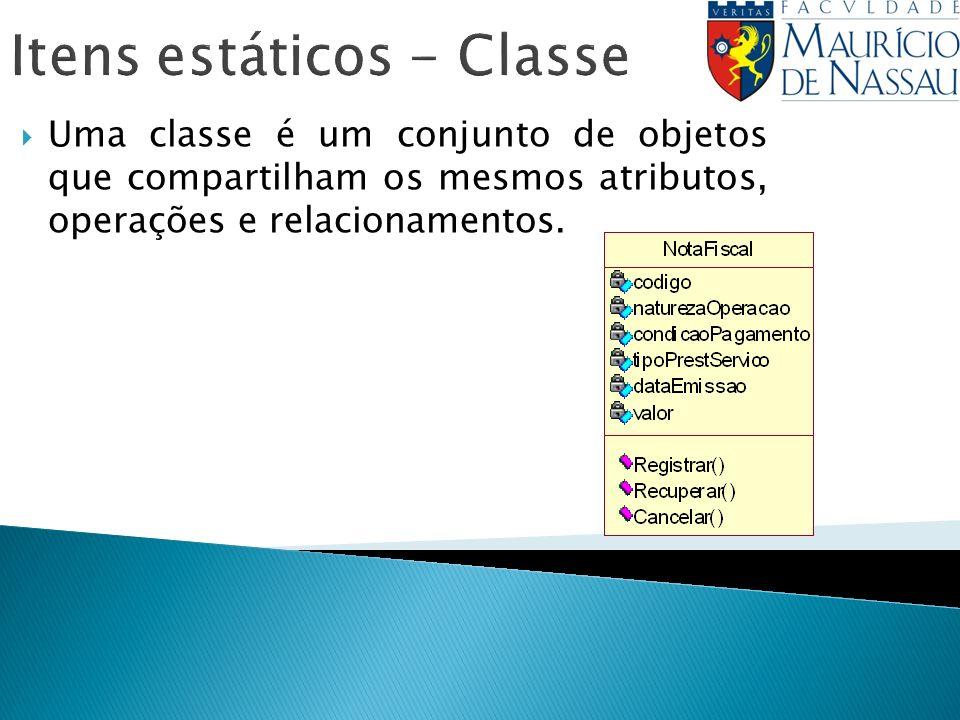 Itens estáticos - Classe