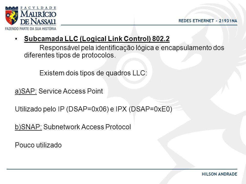Subcamada LLC (Logical Link Control) 802.2