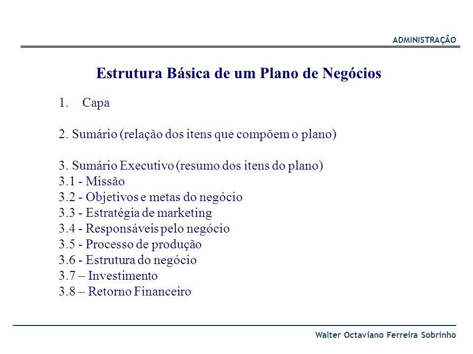 Estrutura Básica de um Plano de Negócios