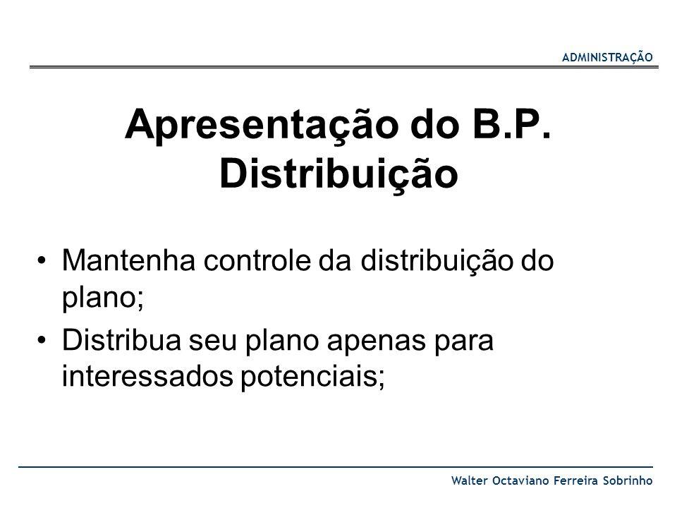 Apresentação do B.P. Distribuição