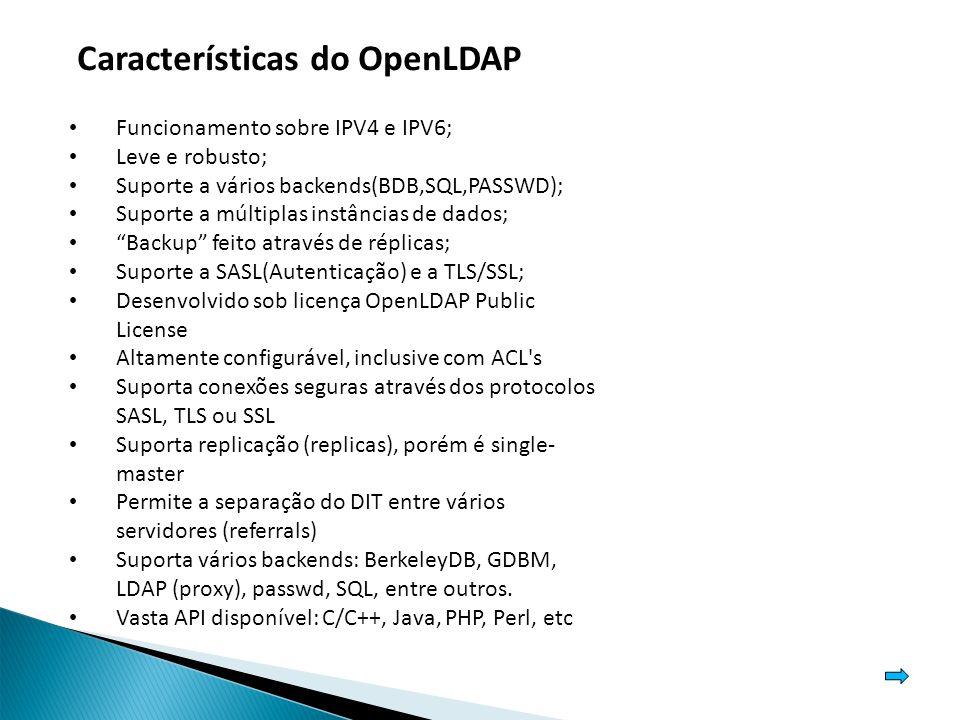Características do OpenLDAP