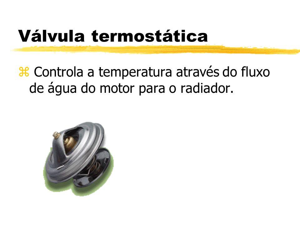 Válvula termostática Controla a temperatura através do fluxo de água do motor para o radiador.