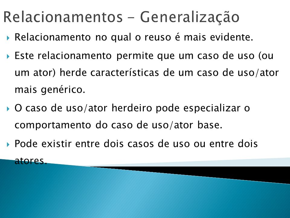 Relacionamentos - Generalização