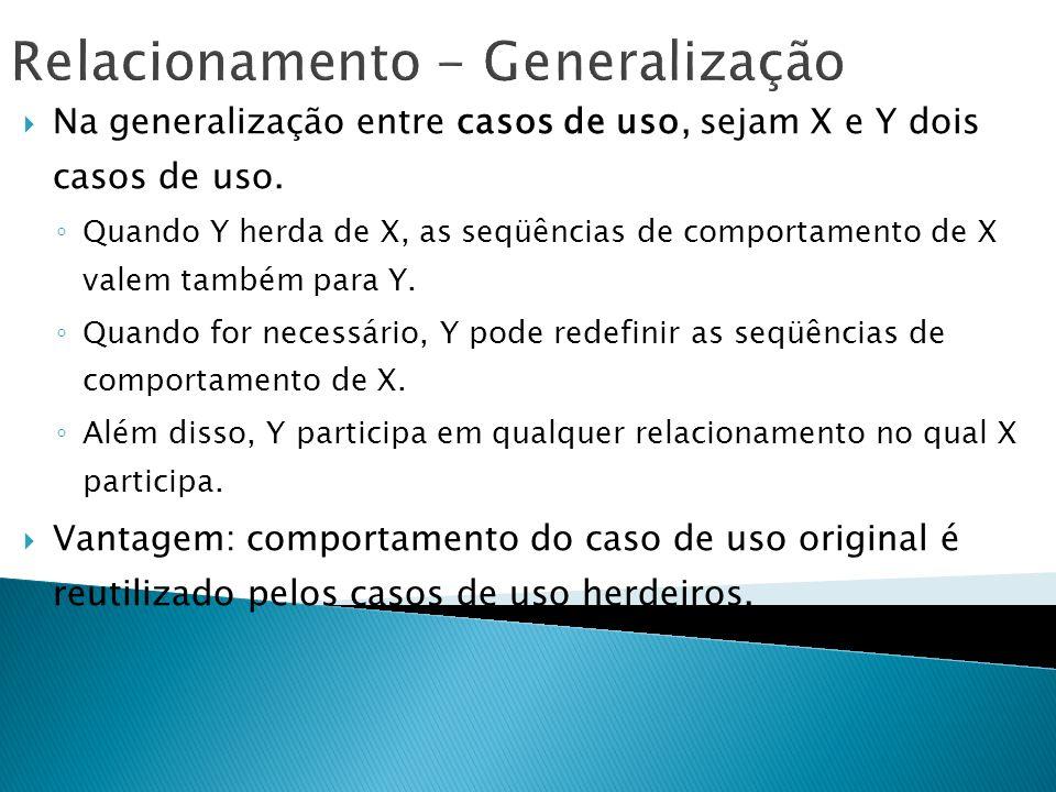 Relacionamento - Generalização