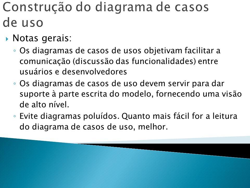 Construção do diagrama de casos de uso