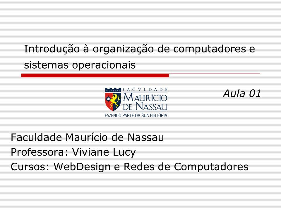 Introdução à organização de computadores e sistemas operacionais