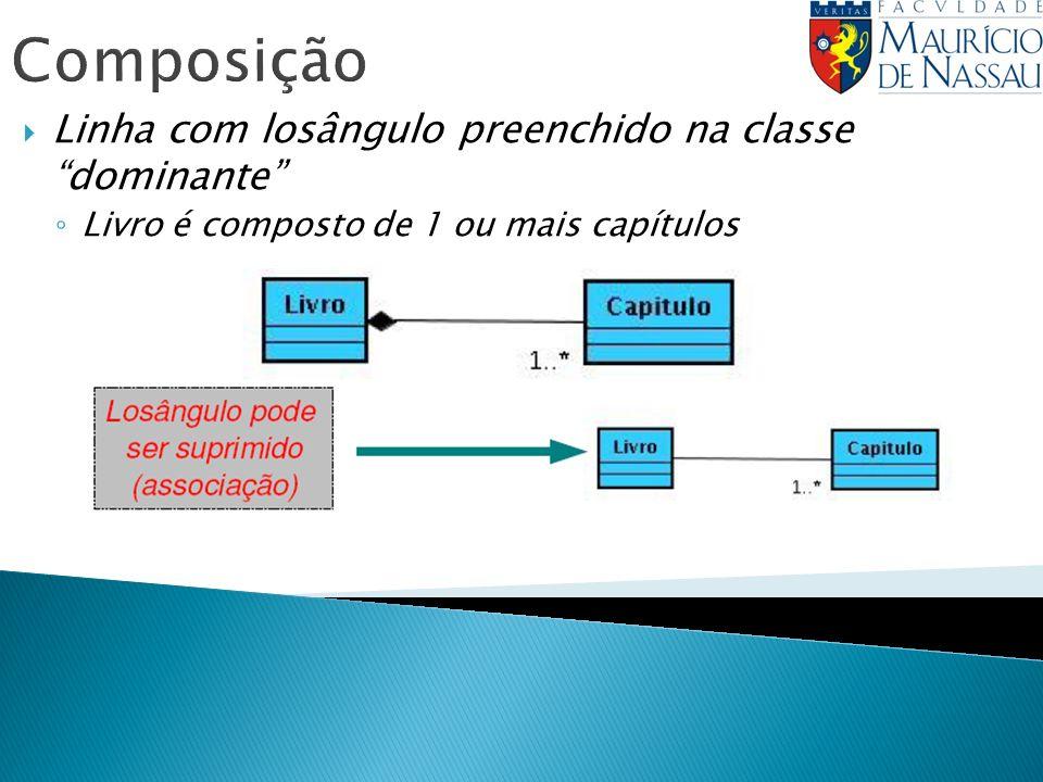 Composição Linha com losângulo preenchido na classe dominante