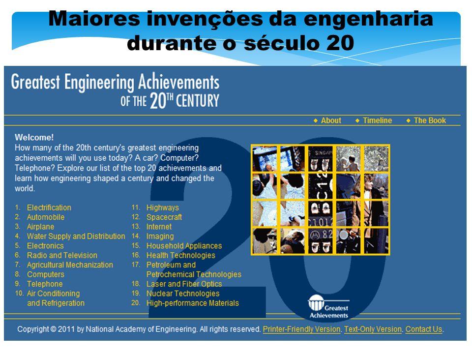 Maiores invenções da engenharia durante o século 20