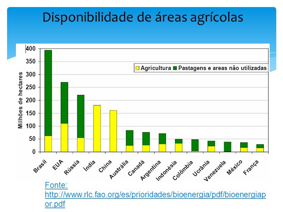 Disponibilidade de áreas agrícolas