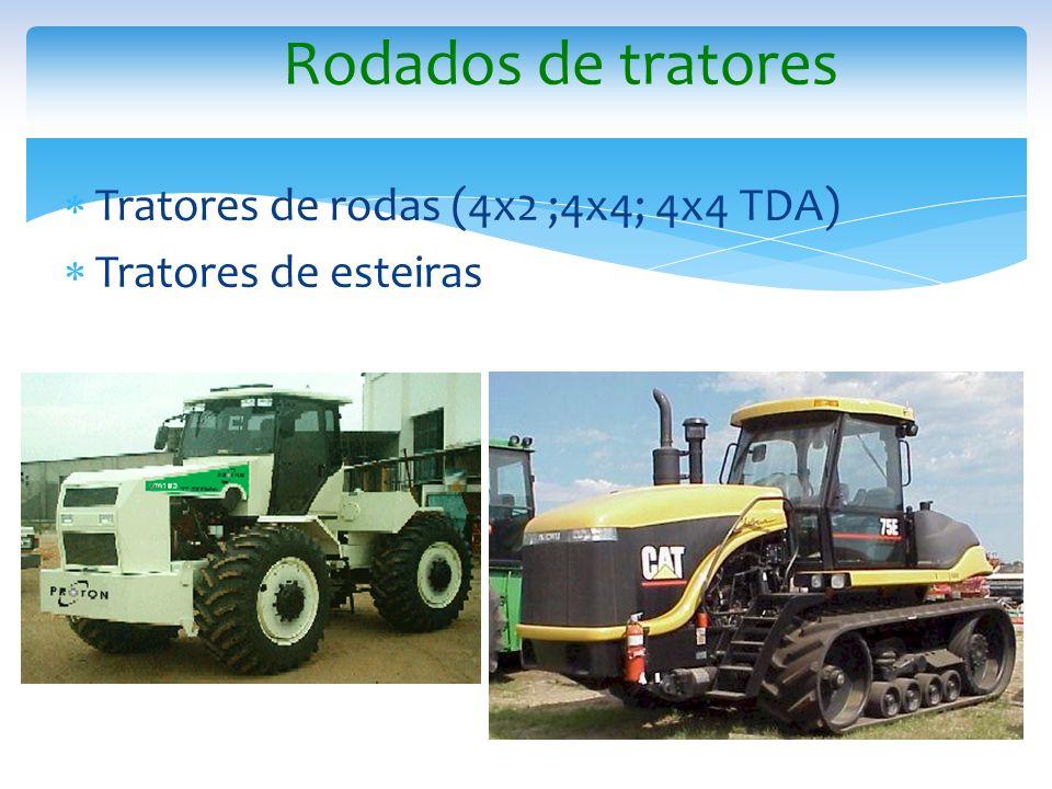 Rodados de tratores Tratores de rodas (4x2 ;4x4; 4x4 TDA)