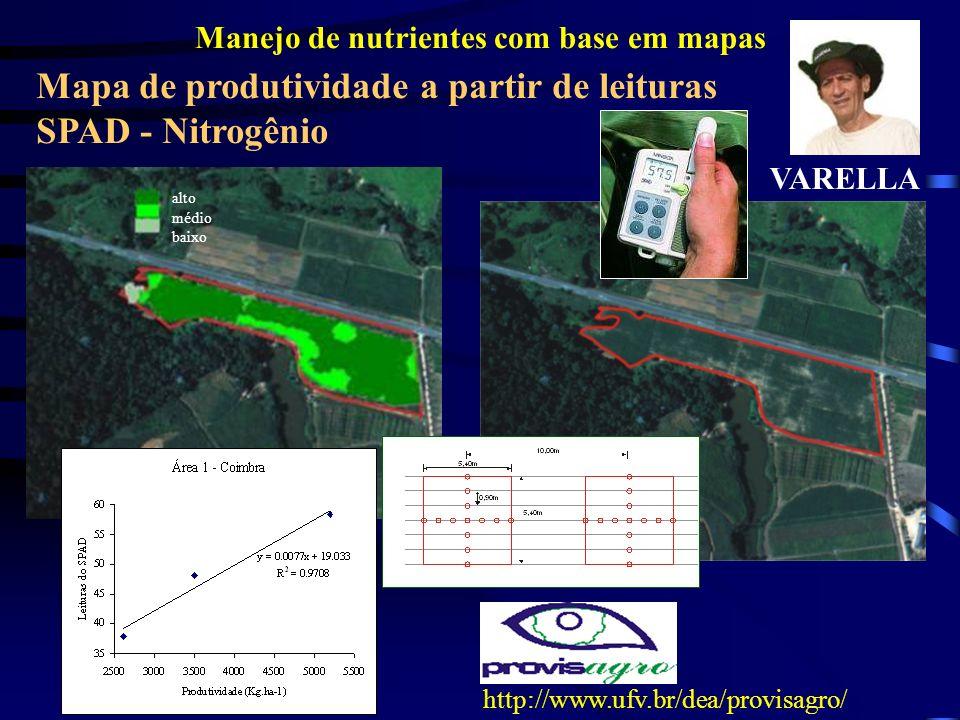 Manejo de nutrientes com base em mapas