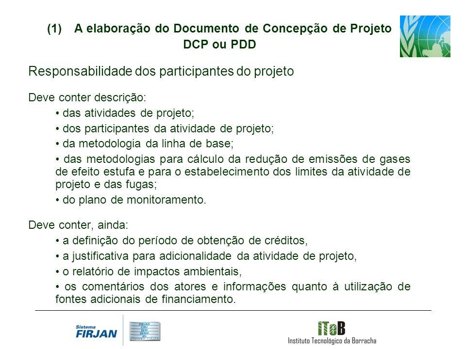 A elaboração do Documento de Concepção de Projeto