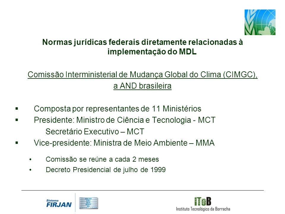 Comissão Interministerial de Mudança Global do Clima (CIMGC),
