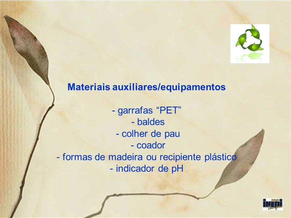 Materiais auxiliares/equipamentos