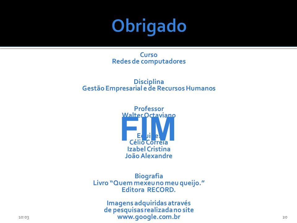 FIM Obrigado Faculdade Mauricio de Nassau Curso Redes de computadores