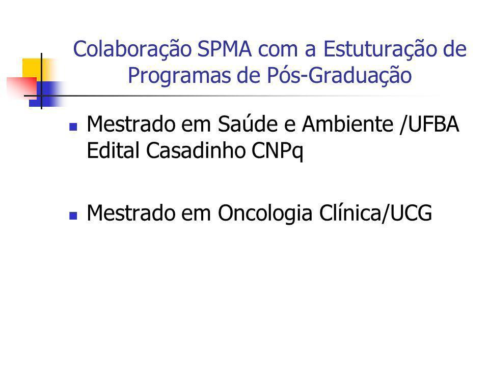 Colaboração SPMA com a Estuturação de Programas de Pós-Graduação