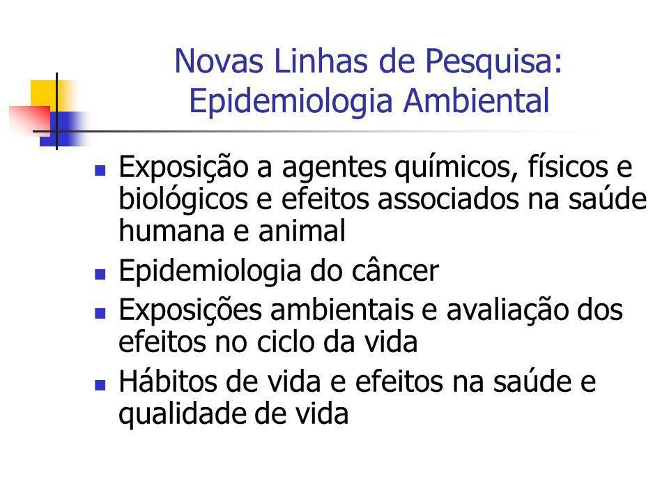 Novas Linhas de Pesquisa: Epidemiologia Ambiental