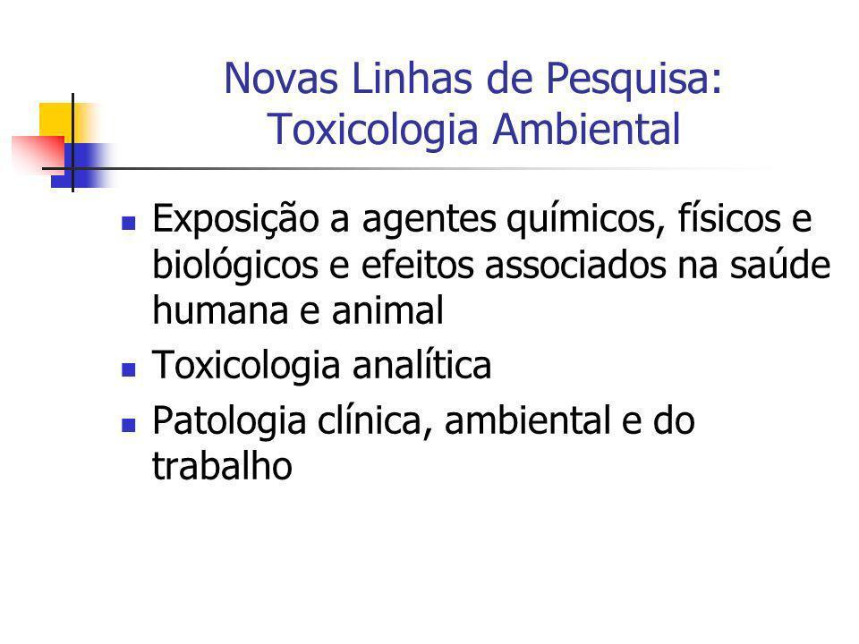 Novas Linhas de Pesquisa: Toxicologia Ambiental