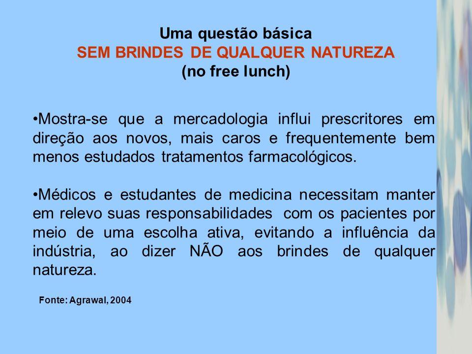 Uma questão básica SEM BRINDES DE QUALQUER NATUREZA (no free lunch)