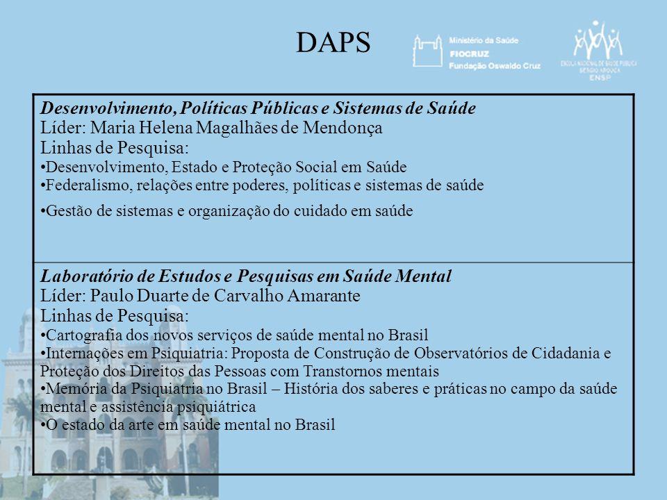 DAPS Desenvolvimento, Políticas Públicas e Sistemas de Saúde