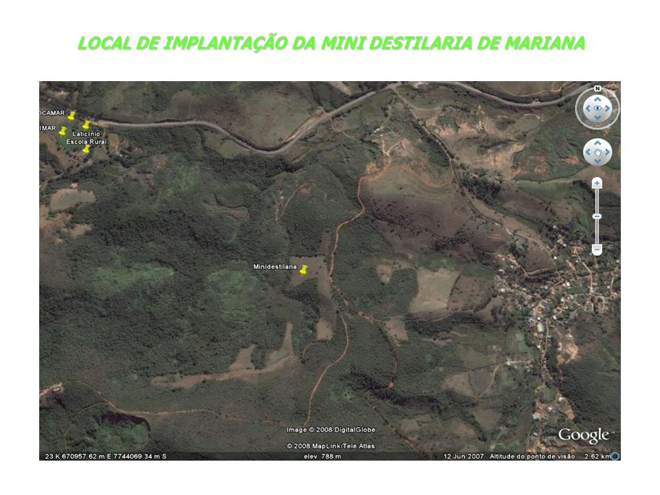 LOCAL DE IMPLANTAÇÃO DA MINI DESTILARIA DE MARIANA