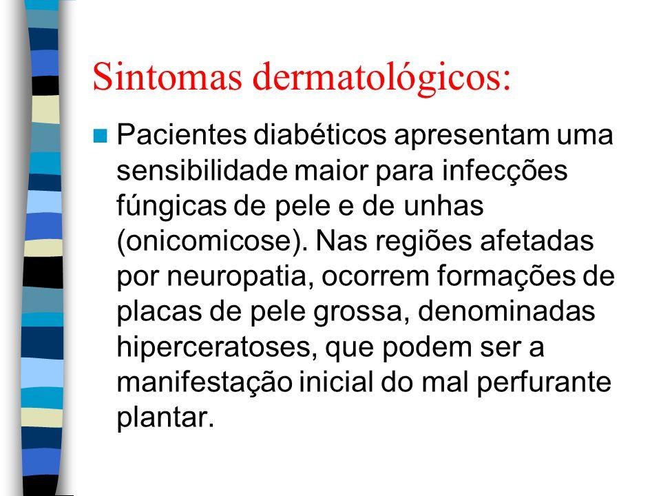 Sintomas dermatológicos: