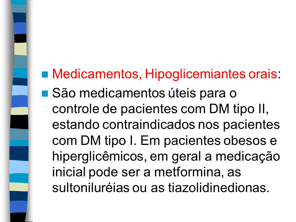 Medicamentos, Hipoglicemiantes orais:
