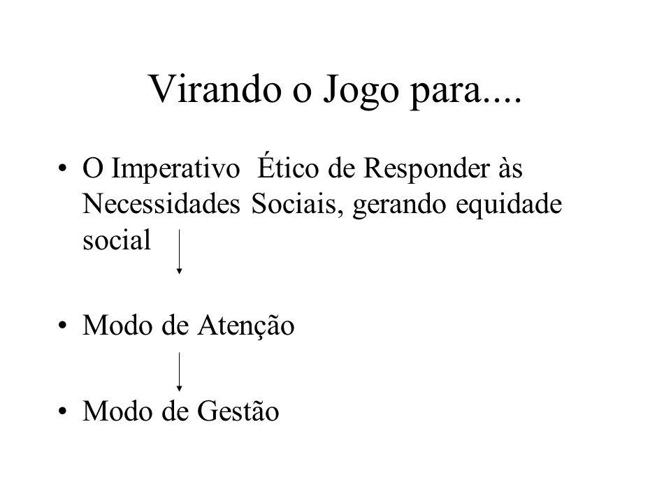Virando o Jogo para.... O Imperativo Ético de Responder às Necessidades Sociais, gerando equidade social.