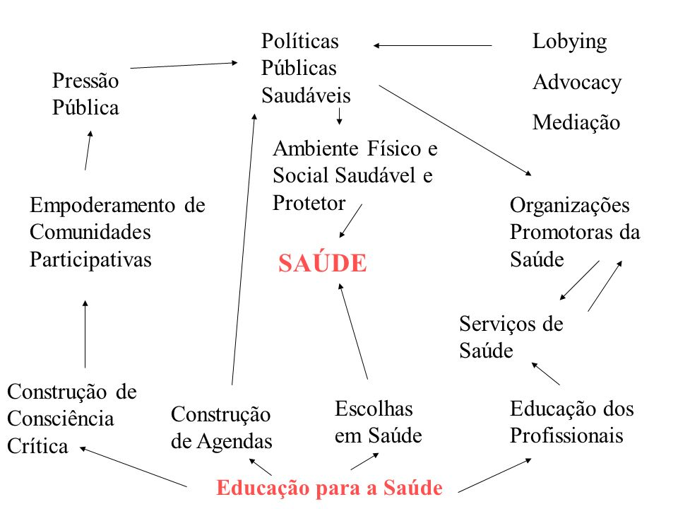 SAÚDE Políticas Públicas Saudáveis Lobying Advocacy Mediação