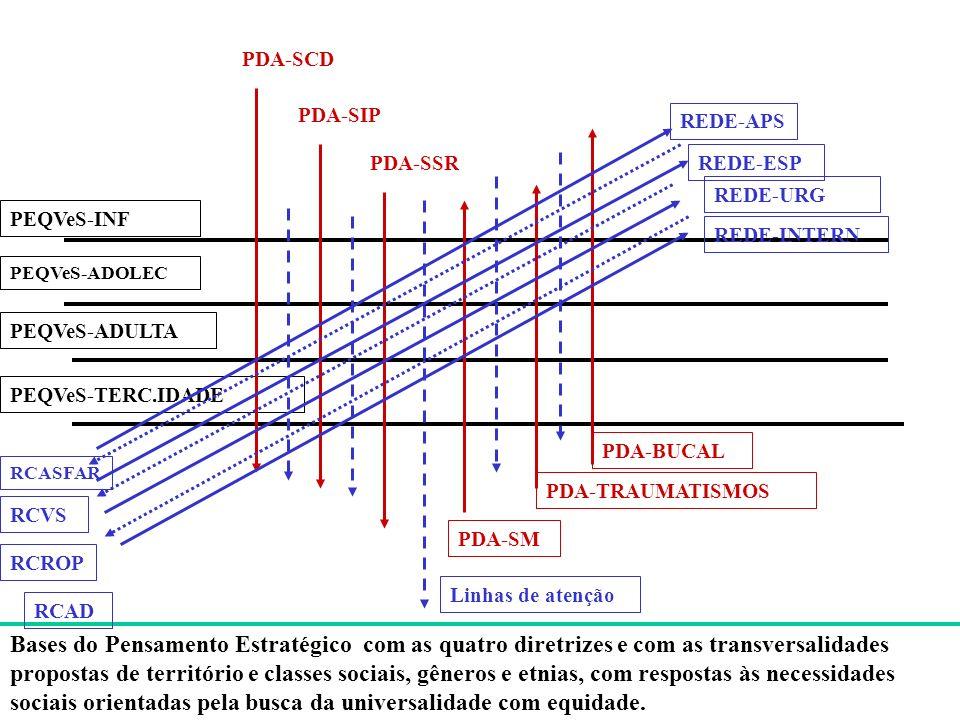 PDA-SCD PDA-SIP. REDE-APS. PDA-SSR. REDE-ESP. REDE-URG. PEQVeS-INF. REDE-INTERN. PEQVeS-ADOLEC.