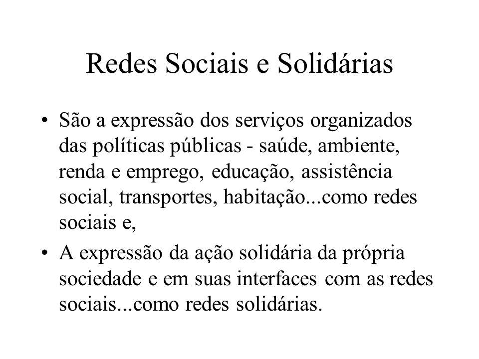 Redes Sociais e Solidárias
