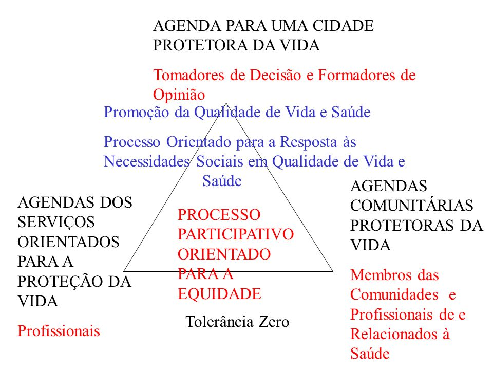 AGENDA PARA UMA CIDADE PROTETORA DA VIDA