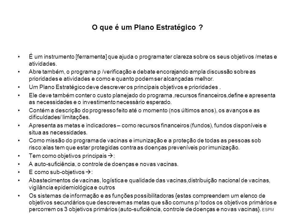 O que é um Plano Estratégico