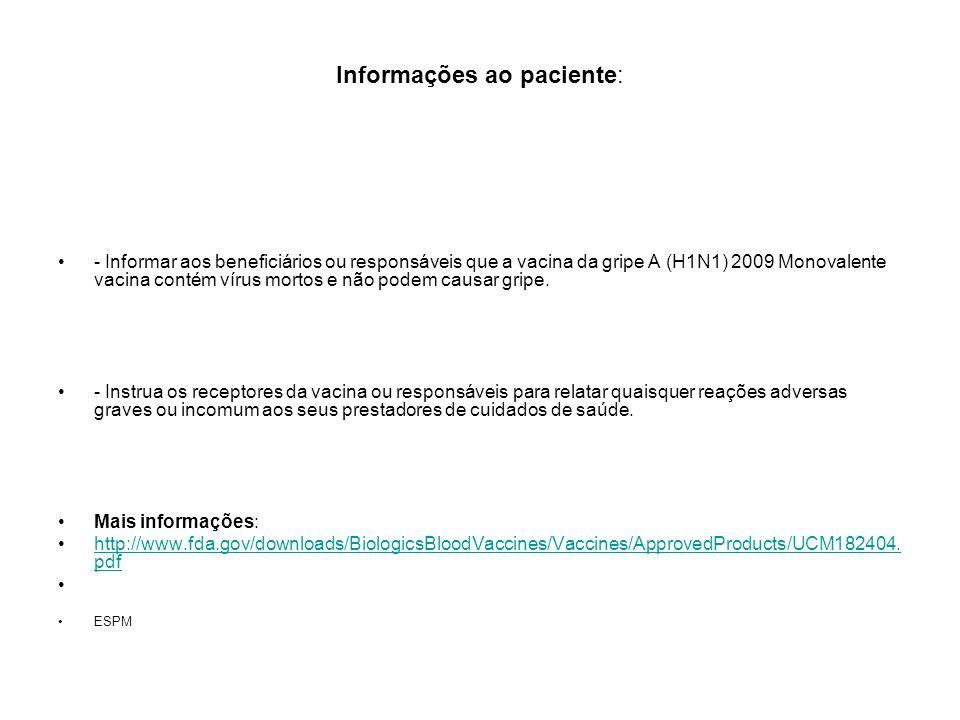 Informações ao paciente: