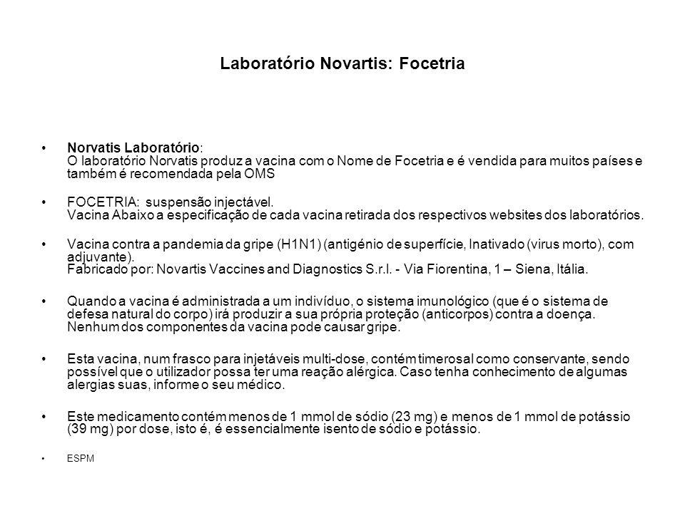 Laboratório Novartis: Focetria