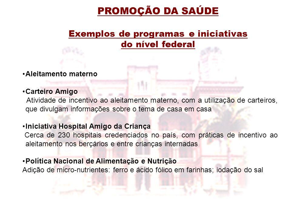 Exemplos de programas e iniciativas