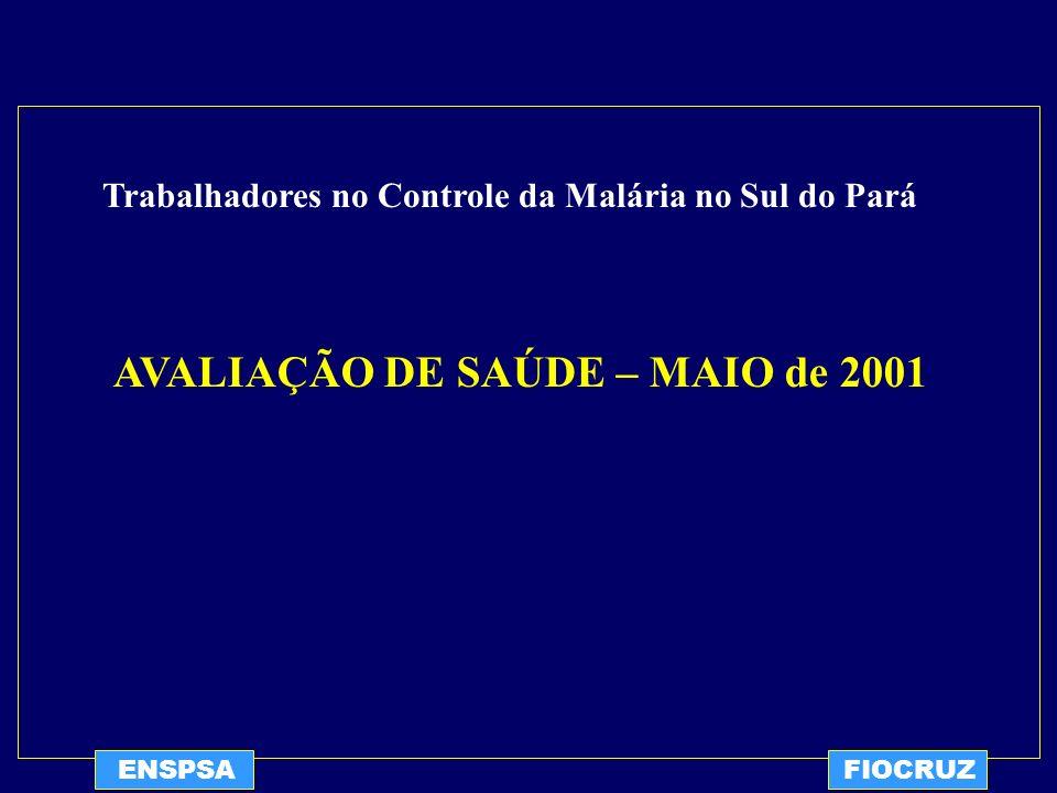 AVALIAÇÃO DE SAÚDE – MAIO de 2001