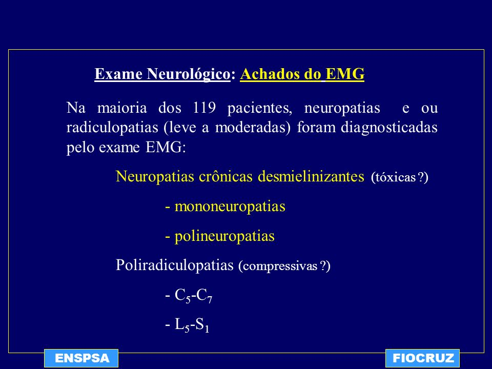 Exame Neurológico: Achados do EMG