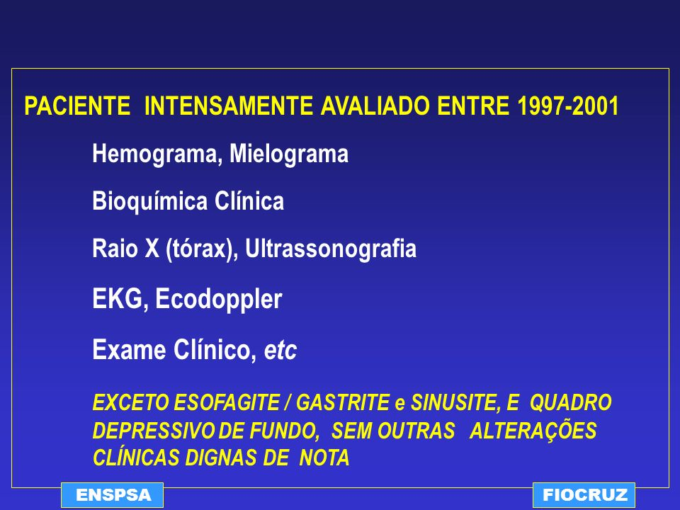 EKG, Ecodoppler Exame Clínico, etc