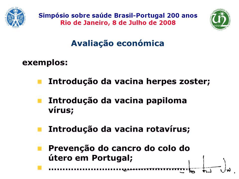 Introdução da vacina herpes zoster;
