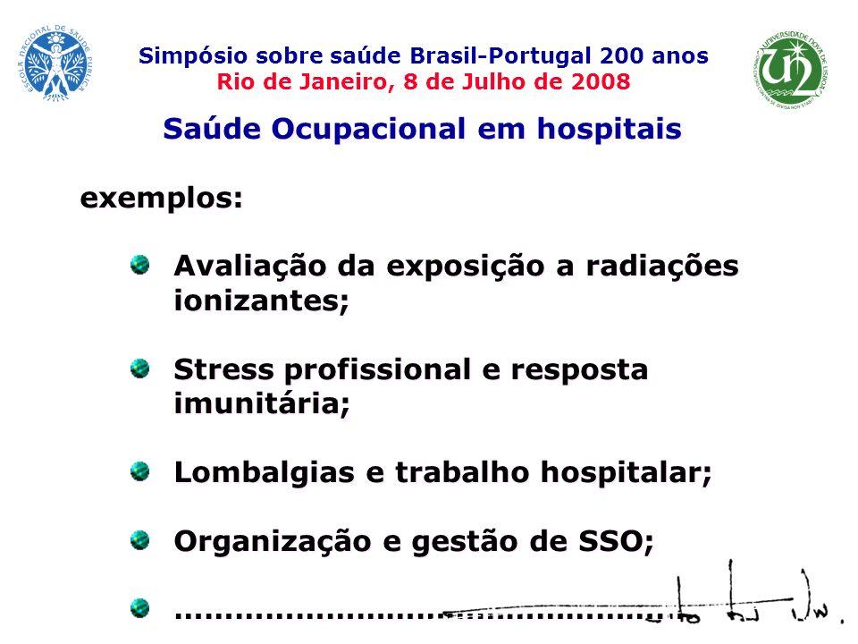 Saúde Ocupacional em hospitais