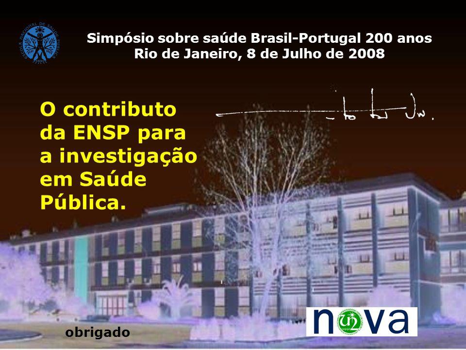 O contributo da ENSP para a investigação em Saúde Pública.