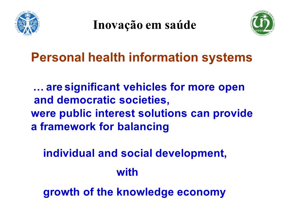 Personal health information systems