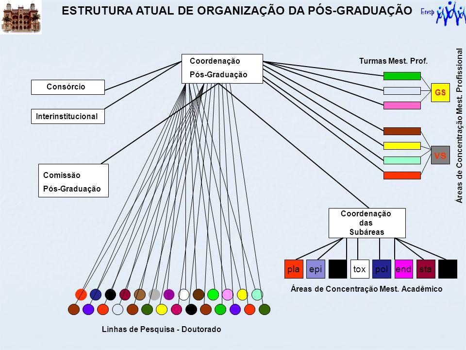 ESTRUTURA ATUAL DE ORGANIZAÇÃO DA PÓS-GRADUAÇÃO
