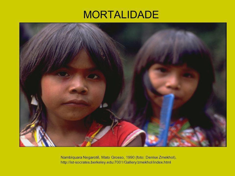 MORTALIDADE Nambiquara Negarotê, Mato Grosso, 1990 (foto: Denise Zmekhol), http://ist-socrates.berkeley.edu:7001/Gallery/zmekhol/index.html.