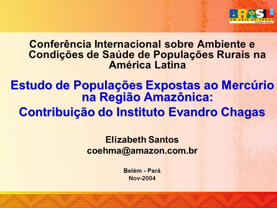 Estudo de Populações Expostas ao Mercúrio na Região Amazônica: