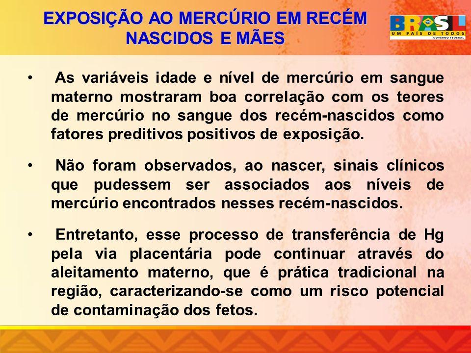 EXPOSIÇÃO AO MERCÚRIO EM RECÉM NASCIDOS E MÃES